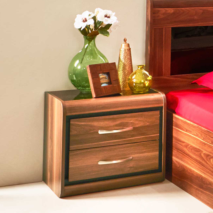 Archer Engineered Wood Bedside Table in Brown Colour by HomeTown