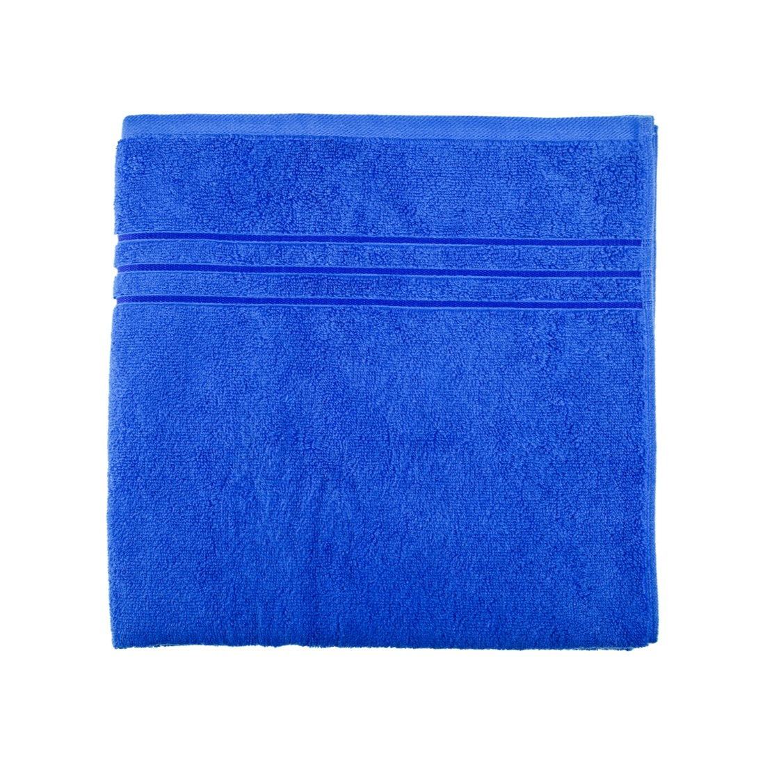 Bath Towel 70X140 Nora Blue Combed Cotton Bath Towels in Blue Colour by Living Essence