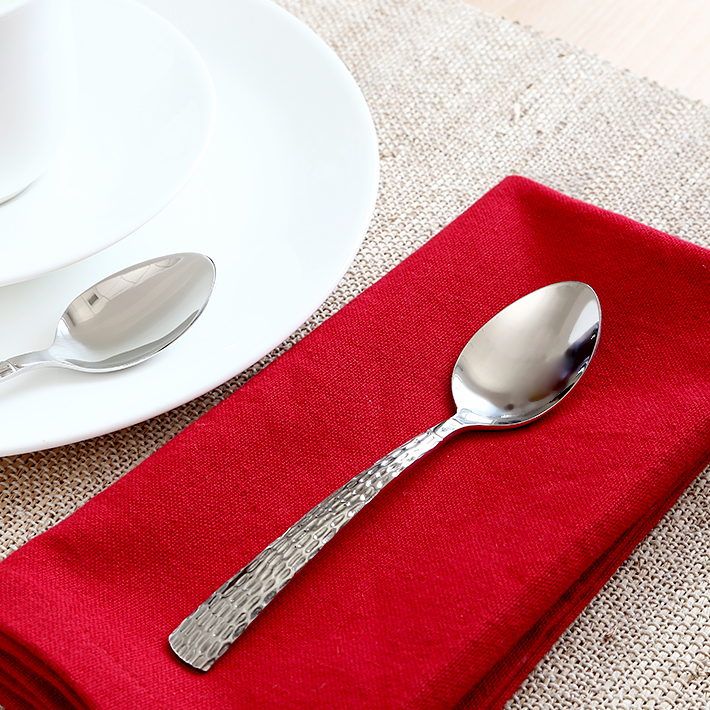 fns Madrid Tea Spoon Set of Six Pieces Stainless steel Spoons in Silver Colour by fns
