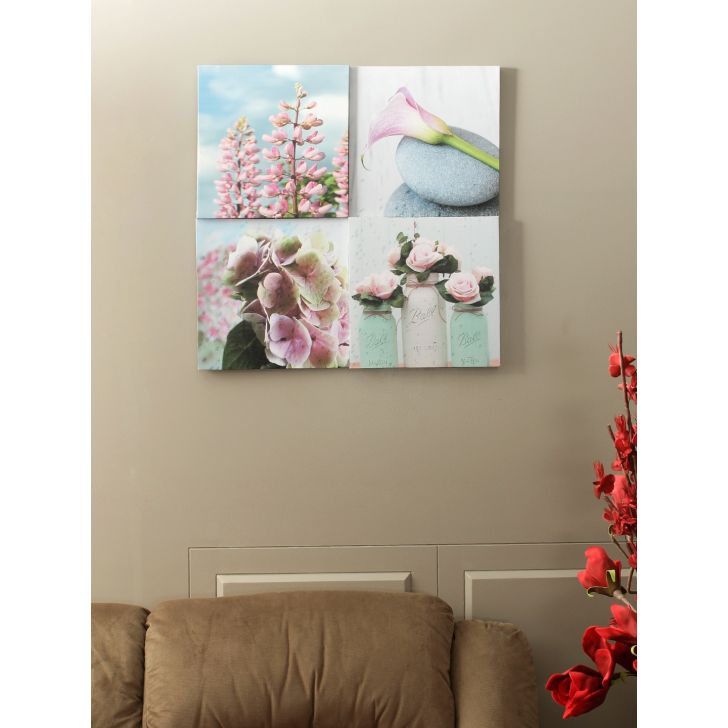 Flora Canvas Painting in Multicolour Colour by HomeTown