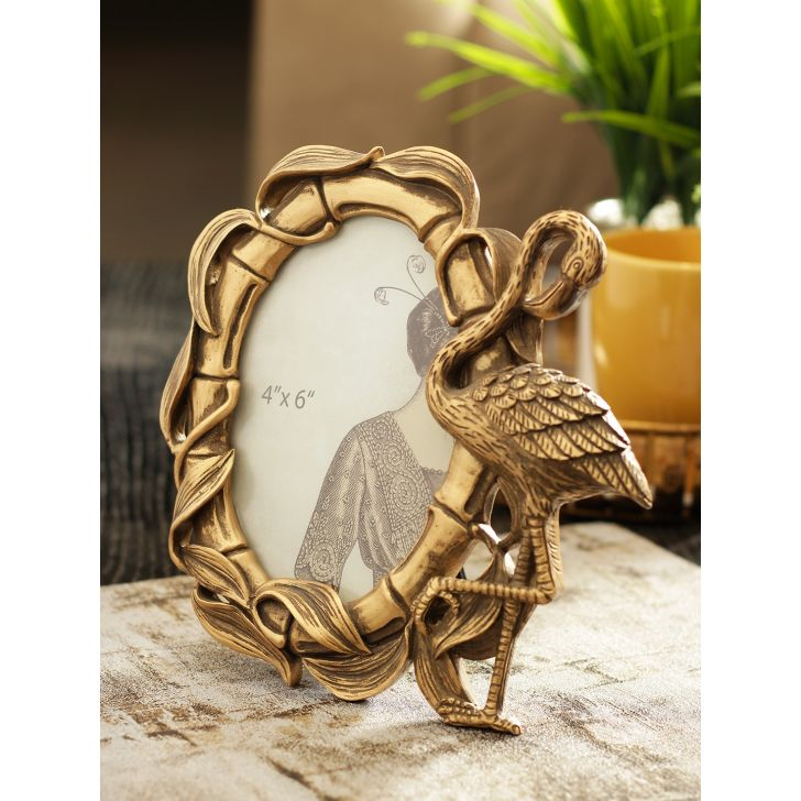 Carson Polyresin Photo Frame in Gold Colour by Living Essence