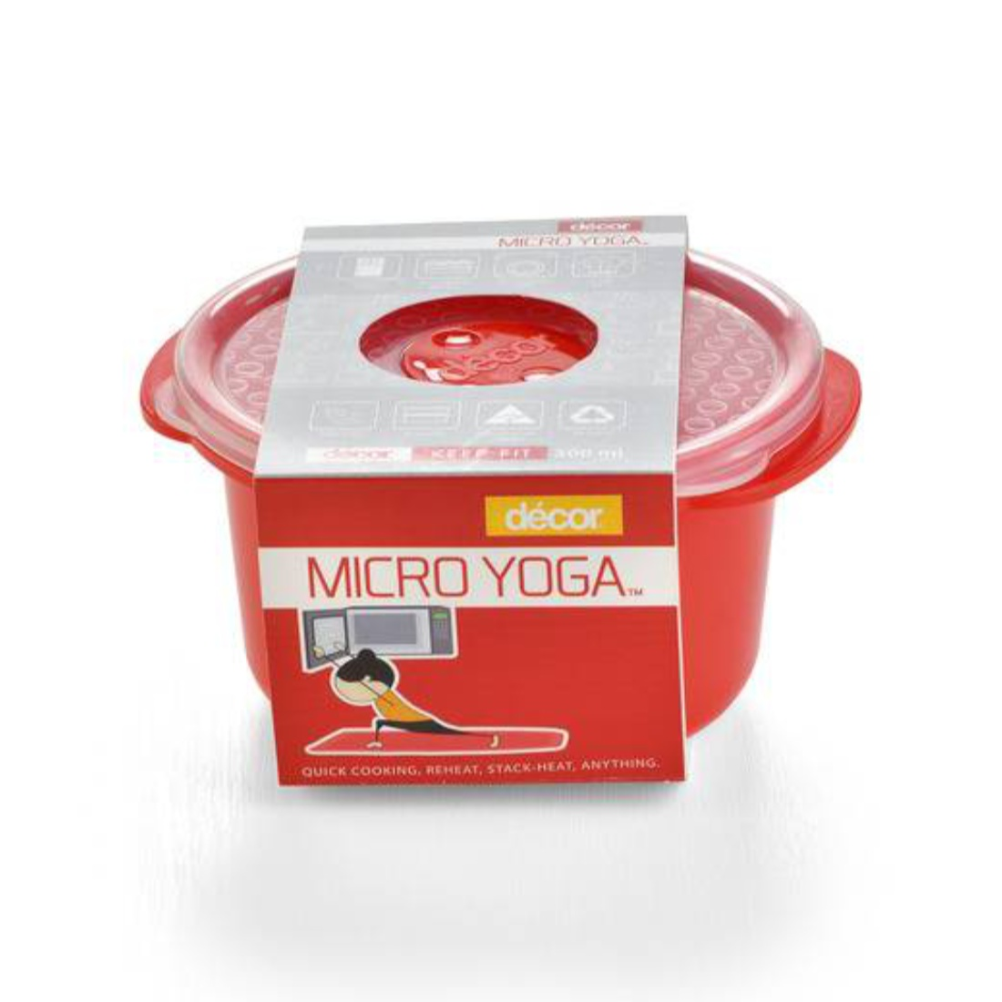 Micro Yoga Round 500ML Plastic Containers by Decor