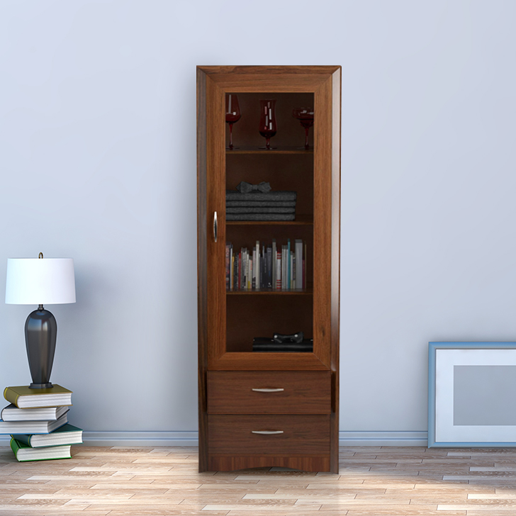 Stark Engineered Wood Small Multipurpose Cabinet in Walnut Colour by HomeTown
