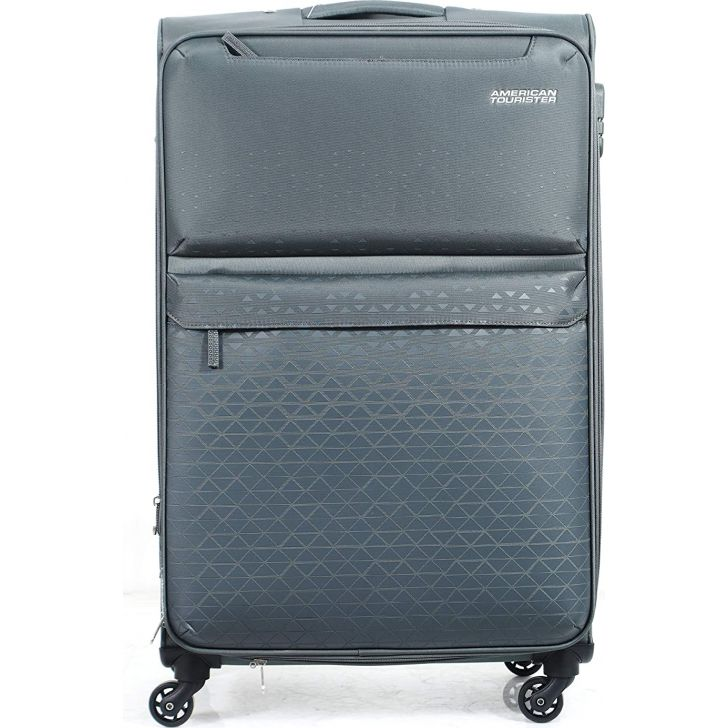 Bradford 79 Polyester Soft Trolley in Grey Colour by AMERICAN TOURISTER