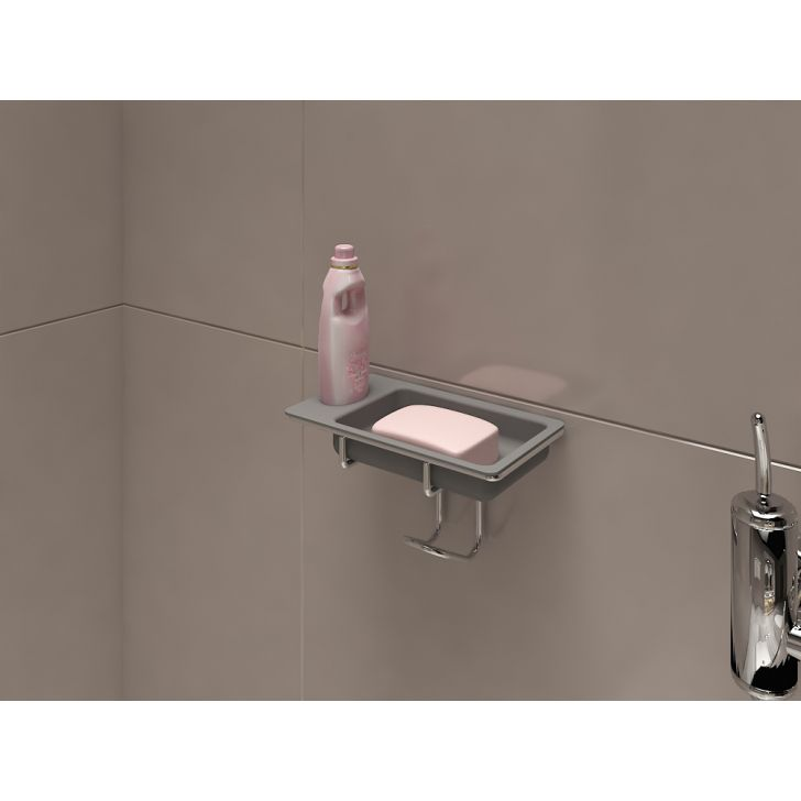 Dura Cucine Stainless steel Soap & Shampoo Holder in Chrome Colour by Hettich