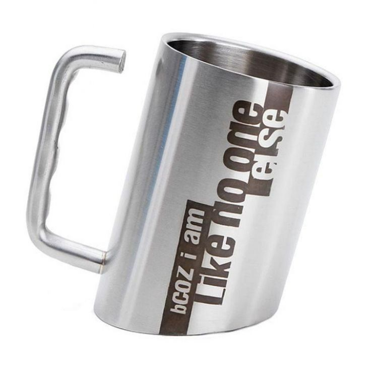 Hot Muggs Inclined Because Unlike Others Stainless Steel Stainless steel Coffee Mugs in Silver Colour by HotMuggs