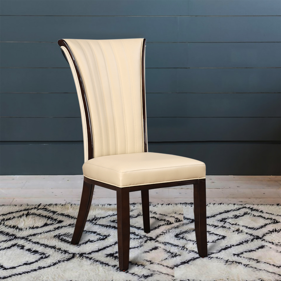 Kingsley Solid Wood Dining Chair Set of Two in Ivory Colour by HomeTown