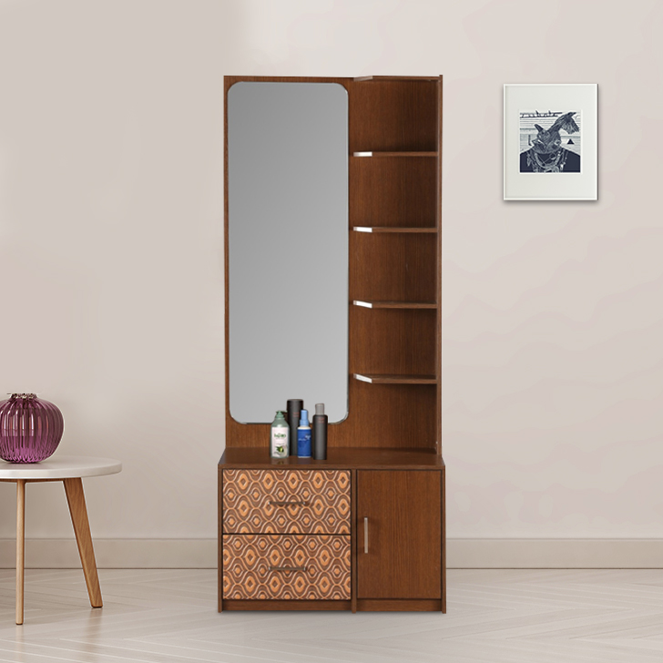 Nebula Engineered Wood Dressing Table in Coffe Brown Colour by HomeTown