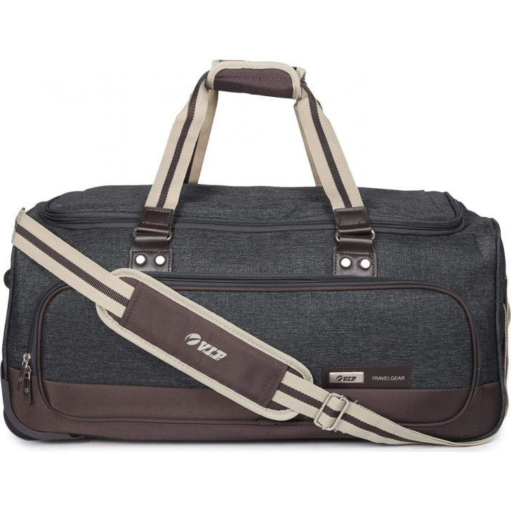 Edgar 59 cm Polyester Duffle on Wheel in Grey Colour by VIP