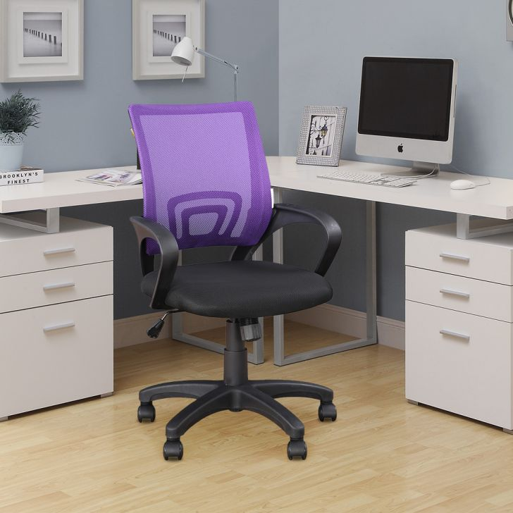 Regus Fabric Office Chair in Purple Colour by HomeTown