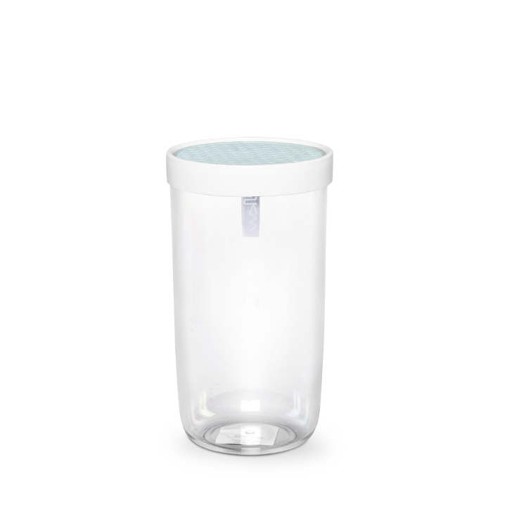 Living Essence Plastic Containers in Transparent & Light Blue Colour by Living Essence
