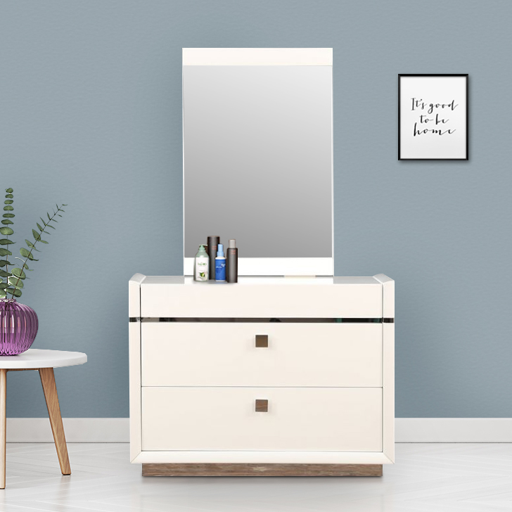 Diana Engineered Wood Dressing Table in Beige Colour by HomeTown
