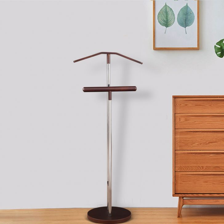 Edmore Engineered Wood Coat Hanger in Chrome + Walnut Colour by HomeTown
