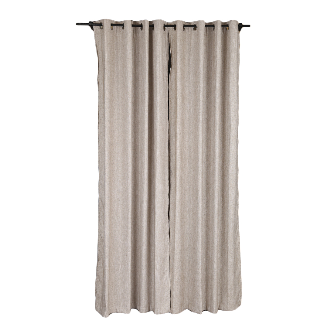 Amour Extra Large Curtain Beige Set of 2 Cotton Polyester Door Curtains in Beige Colour by Living Essence