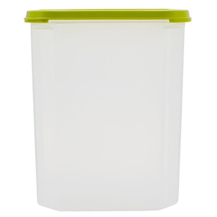Kitchen Modular Square 5.7 Ltr Green Plastic Containers in Green Colour by Living Essence