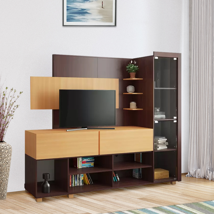 Greta Engineered Wood TV Unit in Teak Colour by HomeTown