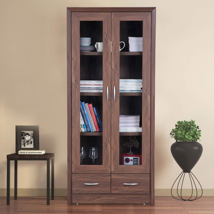 Stark Engineered Wood Book Shelf in Walnut Colour by HomeTown