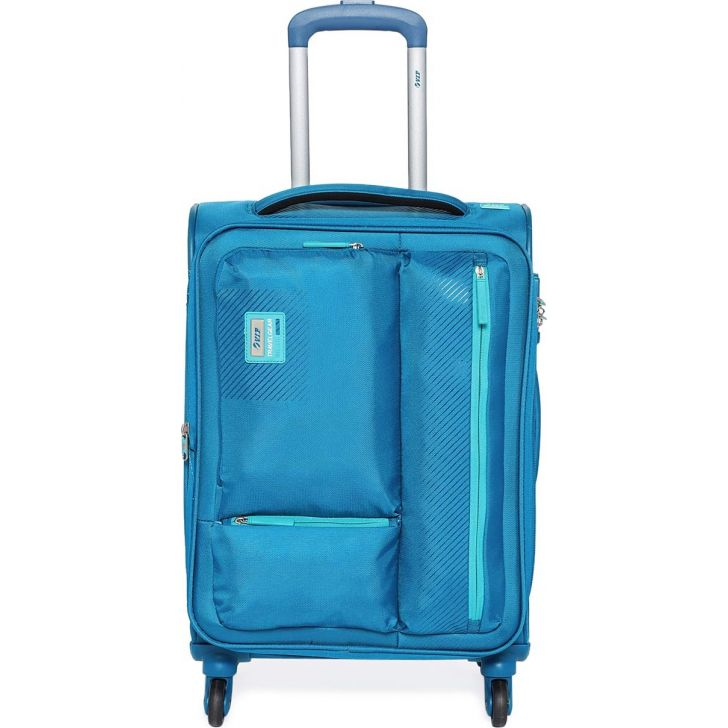 Stax 58.5 cm Polyester Soft Trolley in Blue Colour by VIP