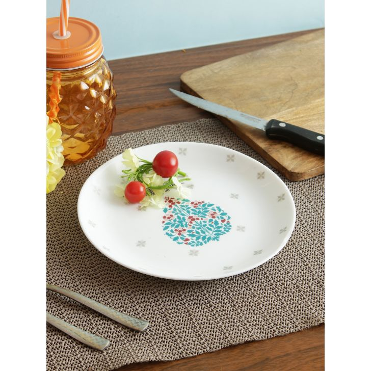 Glowing Grace Opalware Quarter Plate in Multi Colour by Living Essence