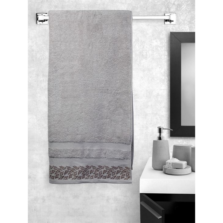 Portico New York Ariana Jacquard : B Bath Towel in Lemonade Color by Portico