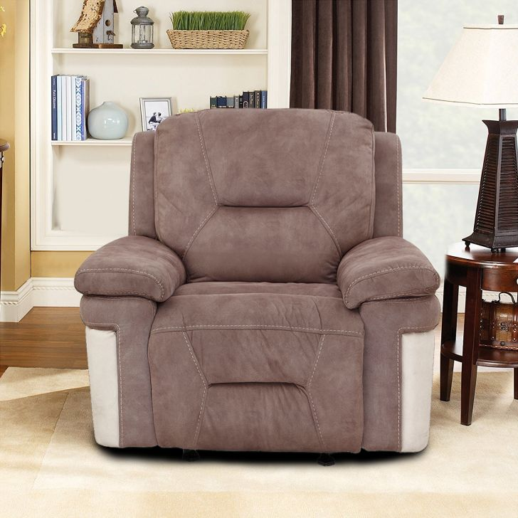 Jupiter Fabric Single Seater Recliner in Multi Color Colour by HomeTown