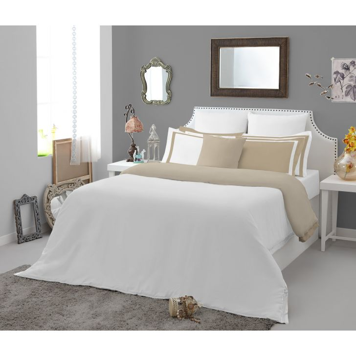 Spaces Hygro White Cotton King Xl Bed Sheet With 4 Pillow Covers