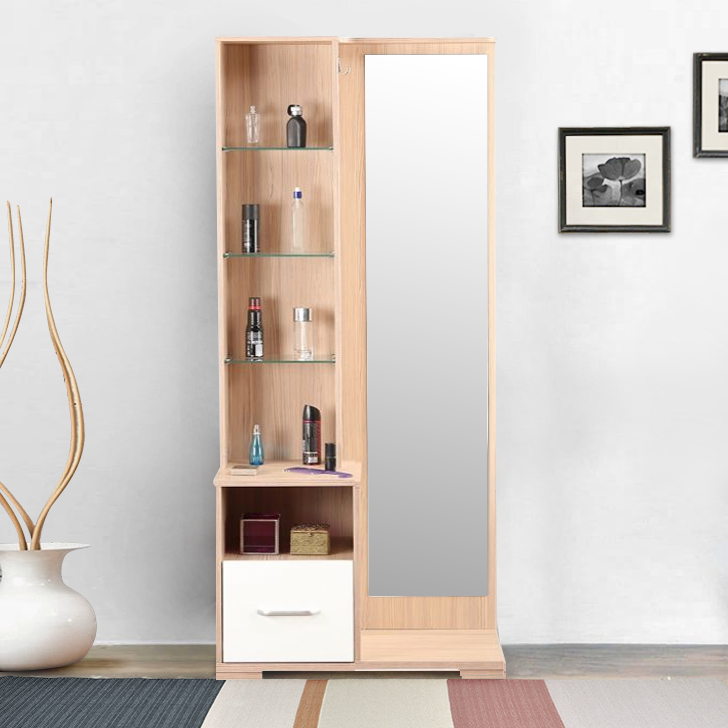 Ambra Engineered Wood Dressing Table in White Colour by HomeTown