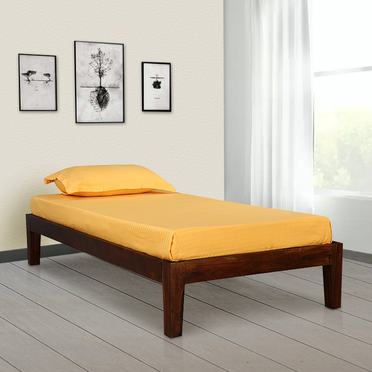 Dilworth Sheesham Wood(Rosewood) Single Bed in Teak Colour by HomeTown
