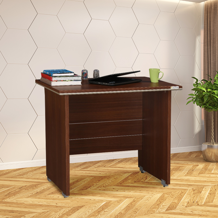 Nova Engineered Wood Office Table in Walnut Regato Colour by HomeTown