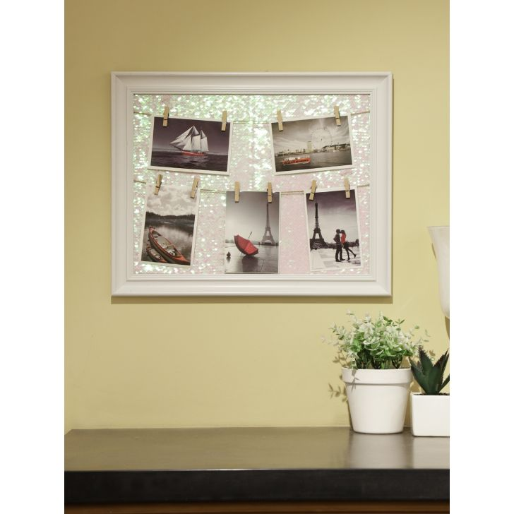 Theo Plastic Photo Frame in White Colour