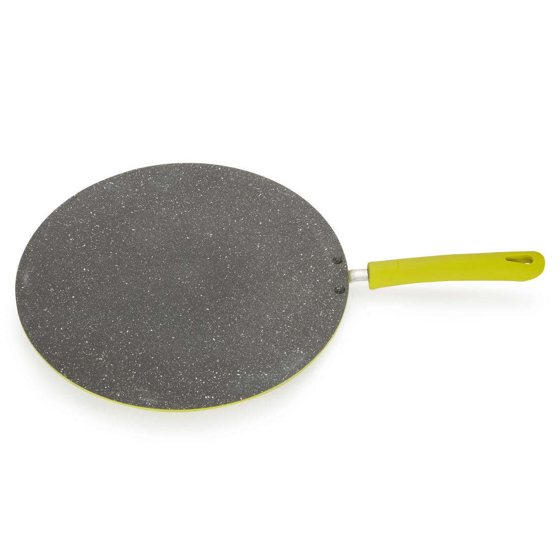Granite Concave Tava 30Cm Green Pressed Alluminium Tawa in Green Colour by Living Essence