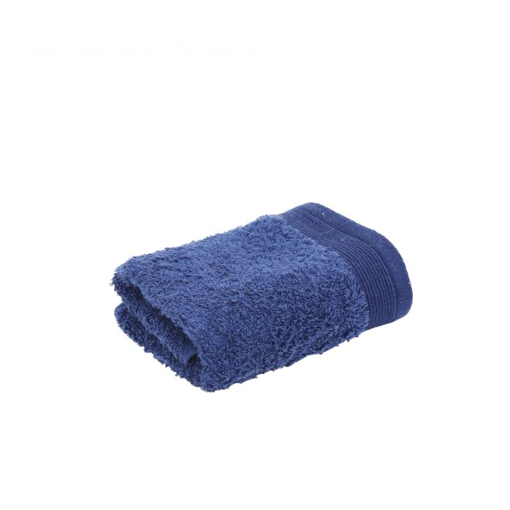 Maspar 550 GSM Embedded Stripe Cotton Blue Hand Towel