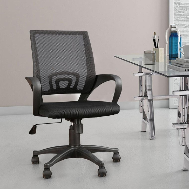 Bolton Fabric Office Chair in Black Color by HomeTown