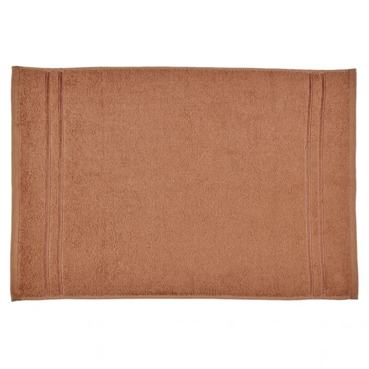 Hand Towel Nora Brown Cotton Hand Towels in Cotton Colour by Living Essence