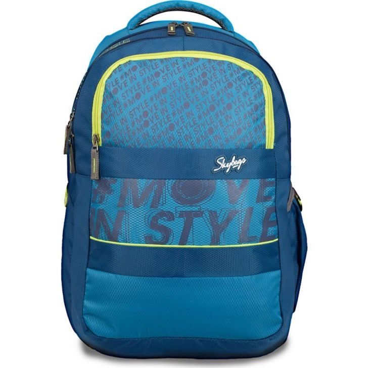 Vader Polyester Laptop Backpack in Blue Colour by Skybags