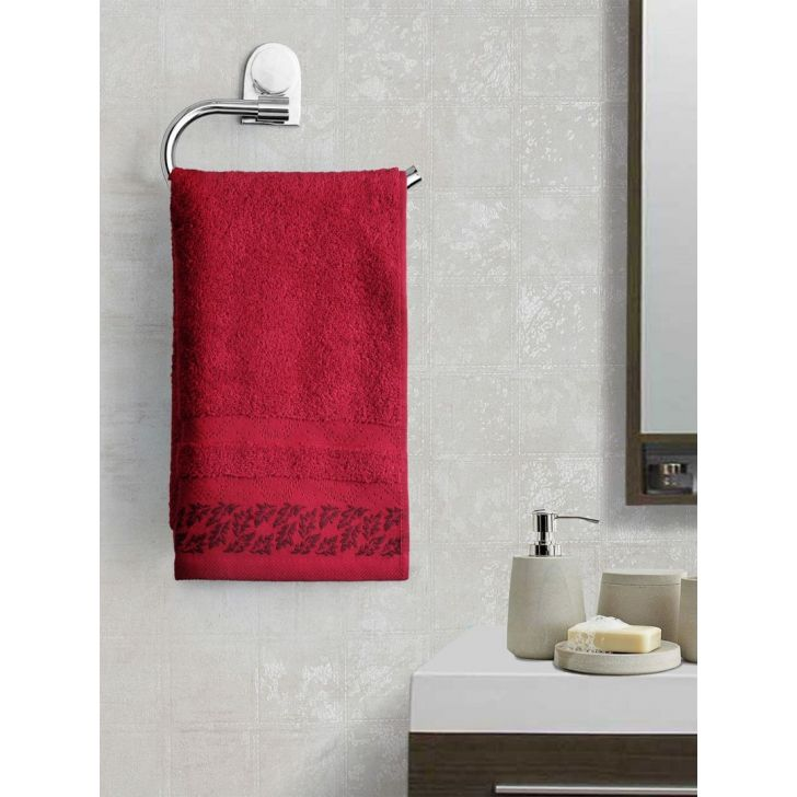 Portico New York Ariana Jacquard : B Hand Towel in African Rust Color by Portico