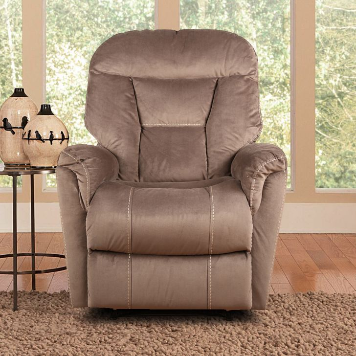 Rubens Fabric Single Seater Recliner in Brown Color by HomeTown