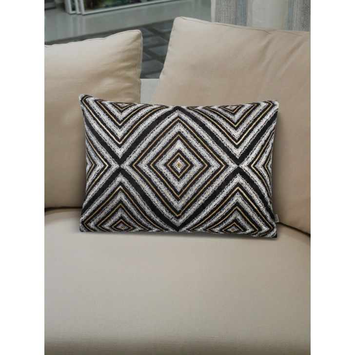 Modern Nexus Cushion Covers in Black Colour by Living Essence