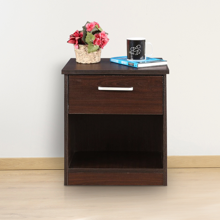 Magnum Engineered Wood Bedside Table in Vermount Colour by HomeTown