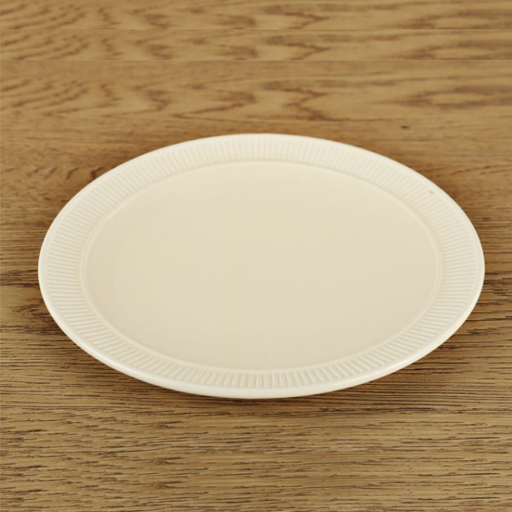 Bk Small Plate Ceramic Plates in White Colour by Living Essence