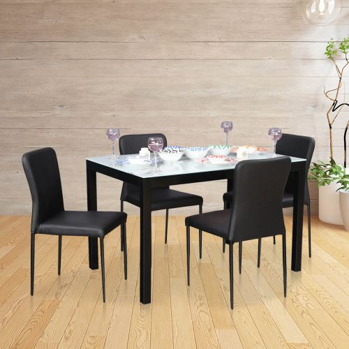 0c2318ae3ee Modric Mild Steel Four Seater Dining Set in White Colour by HomeTown