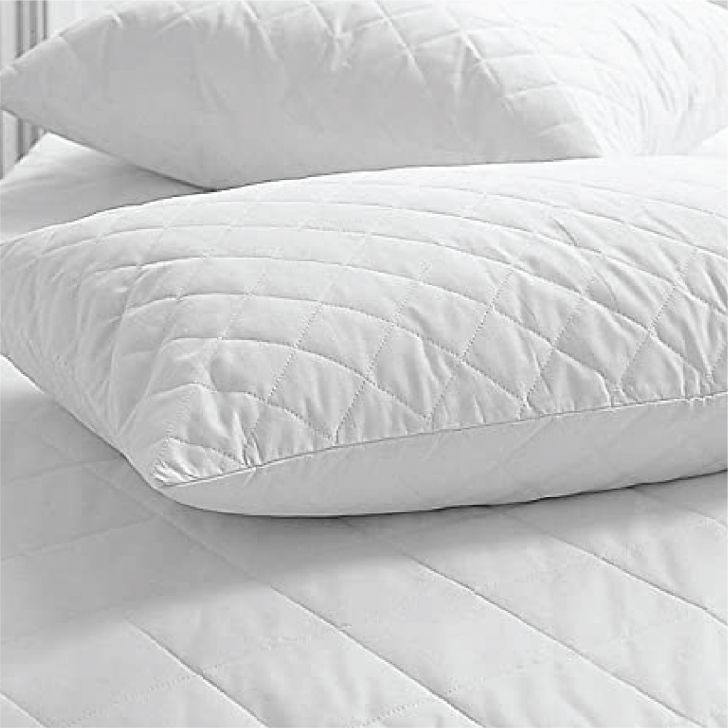Serenity Quilted Comfort Pillow 46X68 Cm in White Colour by Living Essence