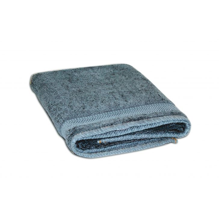 Spaces Youthopia Denim Teal Cotton Bath Towel