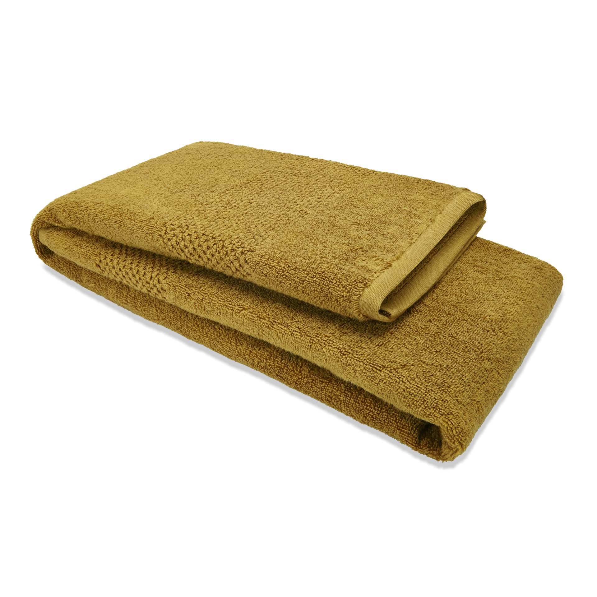 Spaces Atrium Cotton Double Bed Sheets in Golden Colour by Spaces