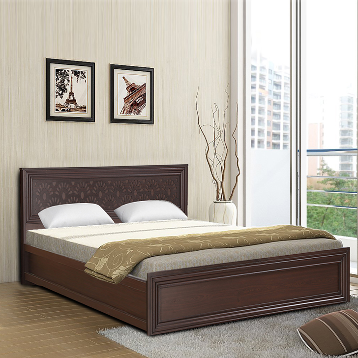 Savana Engineered Wood Box Storage King Size Bed in Vermount Colour by HomeTown