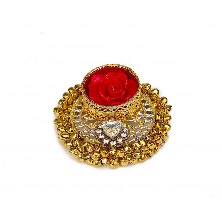 Ghungroo Diya Crystal Metal Pooja Special in Crystal Colour by Living Essence