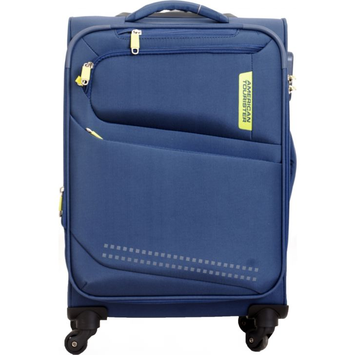 American Tourister Denton Soft Trolley 58 cm (Blue)