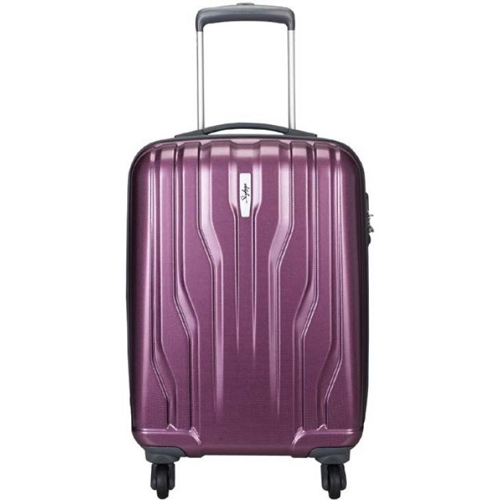 Skybags Marshal 65 cm Maroon Polycarbonate Hard Trolley Promo in Maroon Colour by SKYBAGS