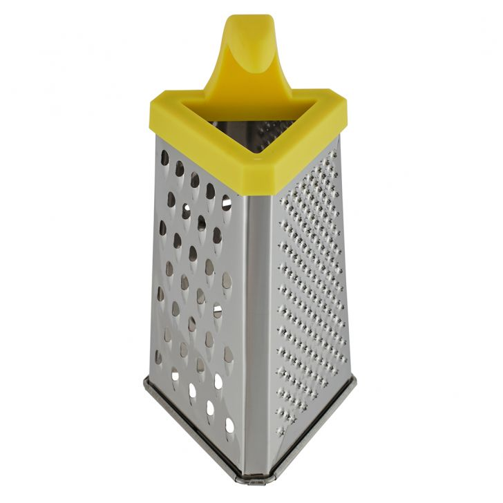 Ss 3 Sided Grater 6.5 Stainless steel Knives & Graters in Silver Colour by Living Essence
