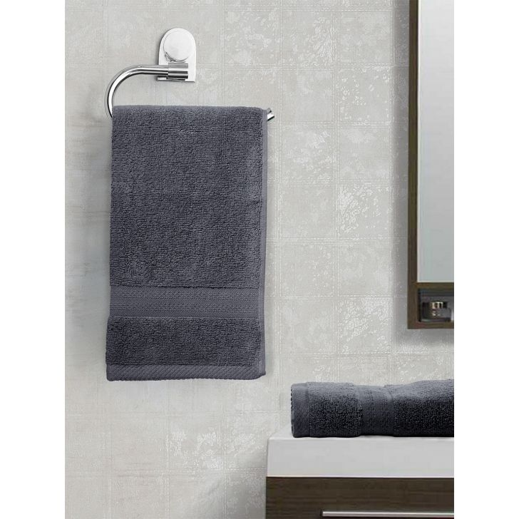 Paradiso Cotton Set Of 2 Hand Towel 40X60 Cm 500 Gsm in Grey Colour